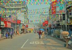 People are walking on the street in Kolkata Stock Photos