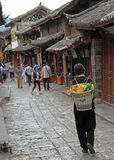 People are walking on the street in Lijiang, China Royalty Free Stock Photography