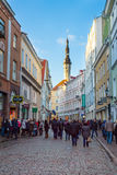 People walking on the street in old city Royalty Free Stock Photography