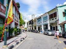 People walking on street in Penang, Malaysia Royalty Free Stock Photos