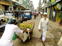 People walking on a street of Pettah neighborhood, Colombo, Sri. Lanka Stock Images