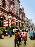 People walking on a street of Pettah neighborhood, Colombo, Sri Stock Photography