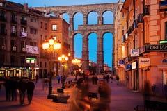 People walking street of Segovia Royalty Free Stock Photography