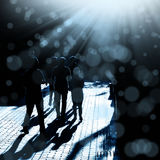 People walking on street Stock Image