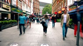People walking on the street. Time lapse. stock footage