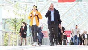 People walking, time lapse stock video