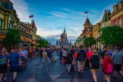 People walking to Cinderella Castle in Main Street  at Magic Kingdom 1