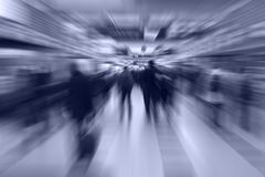 People walking to the gate of the airport transfer. Royalty Free Stock Photos