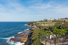Free People Walking To Waverley Cemetery Along The Bondi To Coogee Coastal Walk Stock Photo - 83253370