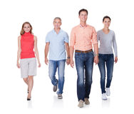People walking towards the camera Stock Photo