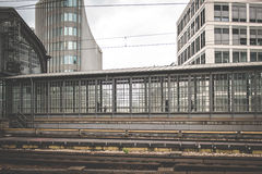People walking at train station , cityscape royalty free stock photos