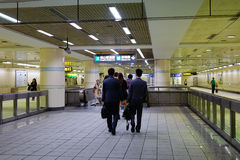 People walking at the train station in Kyoto Royalty Free Stock Images