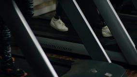 People walking on the treadmill stock video
