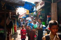 People walking trough local market in Yogjakarta, Indonesia Royalty Free Stock Photos