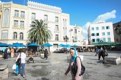 People walking in Tunis Stock Photo