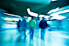 People walking through the tunnel Royalty Free Stock Photography