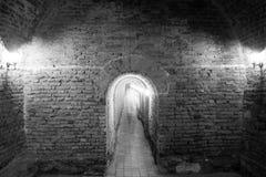 People walking through underground passage Royalty Free Stock Image