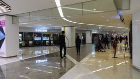 People walking at underground shopping mall in Seoul, Korea. The largest wholesale and retail market in South Korea, the Dongdaemun Market, is located in Seoul stock video