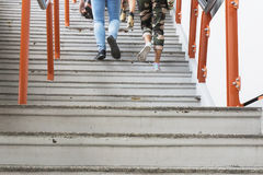 People walking up stairs Royalty Free Stock Photos