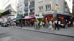 People walking Vienna stock footage
