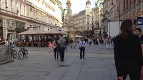People walking in Vienna stock footage