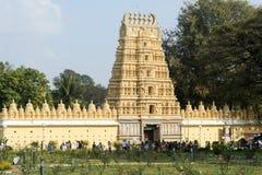 People walking and visiting the temple of Shweta Varahaswami Stock Image