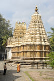 People walking and visiting the temple of Shweta Varahaswami Stock Photos