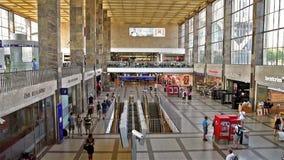 People Walking In Wien Mitte Train Station stock footage