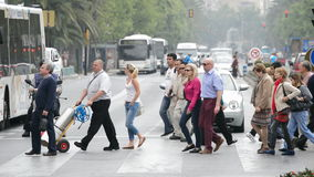 People walking zebra crossing