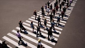 People walking zebra crossing, great design for any purposes. Pedestrian sign. Pedestrian crossing street. Top view