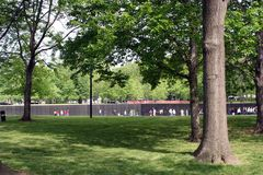 People at Wall. People visiting the Vietnam Veteran's Memorial Wall in Washington, DC, USA Stock Photo
