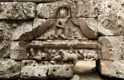 People on the wall of Angkor wat. People on the wall of Angkor at, Cambodia stock image