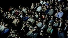 People Watch 3D Cinema stock video