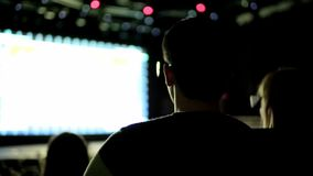 People Watch 3D Film stock video footage
