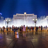 People watch famous Bellagio Hotel   in Las Vegas Stock Photo