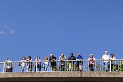 People watch the 51st bicycle race Royalty Free Stock Photography