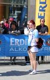 People watching Cheerleaders at Hannover Marathon Royalty Free Stock Photos