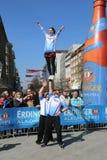People watching Cheerleaders at Hannover Marathon Stock Photos