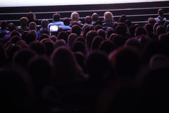 People watching cinema stock photos