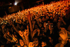 People watching the concert of The Black Box Revelation (band) Royalty Free Stock Images