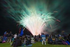 People watching firework display Royalty Free Stock Photo