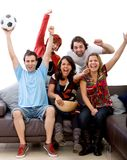 People watching football Stock Images
