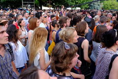 People watching live perfomance Stock Photo