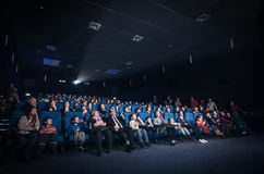 People watching movie Royalty Free Stock Image