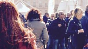 People watching parade