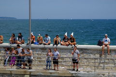 People watching red bull flugtag in Varna Royalty Free Stock Image