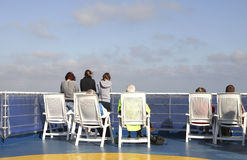 People watching the sea from the ferry Royalty Free Stock Photos