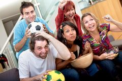 People watching soccer Stock Photos