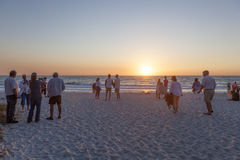 Free People Watching Sunset In Naples, Florida Stock Images - 91129794