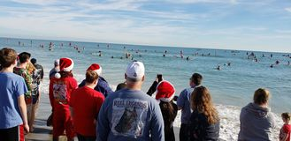 Spectators in Cocoa Beach royalty free stock photography